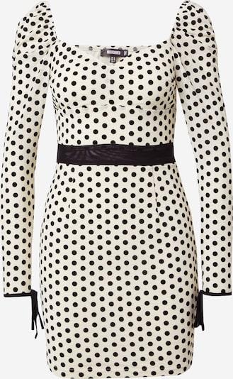 Missguided Kleid in creme / schwarz, Produktansicht
