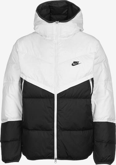 Nike Sportswear Winterjas 'Fill Shield' in de kleur Zwart / Wit, Productweergave