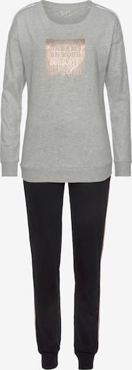 VIVANCE Pyjama 'Dreams' in gold / grau / schwarz, Produktansicht