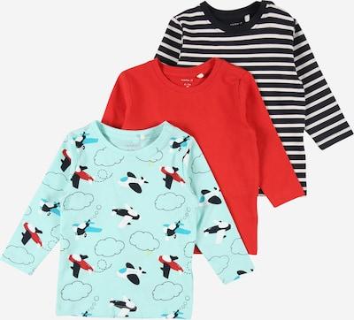 NAME IT Shirt 'MAGNUS' in hellblau / dunkelblau / gelb / rot / weiß, Produktansicht