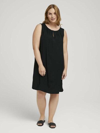MY TRUE ME Kleid in aubergine / schwarz, Modelansicht