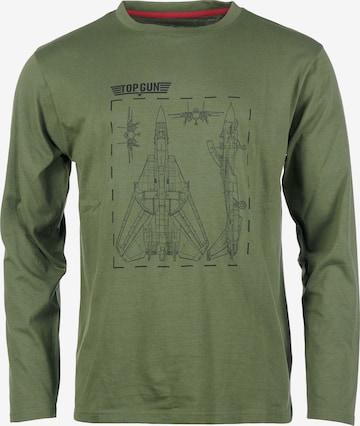 TOP GUN Sweatshirt in Grün