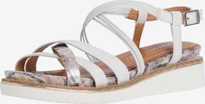 Sandale cu baretă TAMARIS pe argintiu / alb, Vizualizare produs