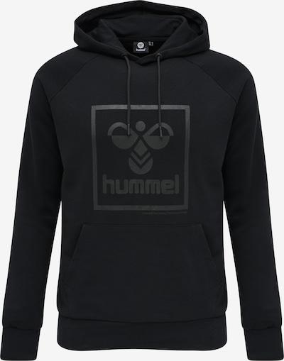 Hummel Sweatshirt 'HMLISAM' in dunkelgrau / schwarz, Produktansicht