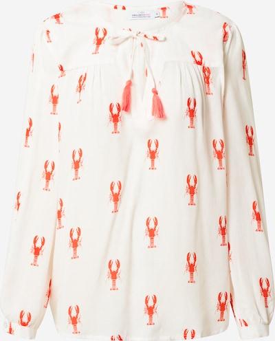 Zwillingsherz Bluse 'Kathinka' in rot / weiß, Produktansicht