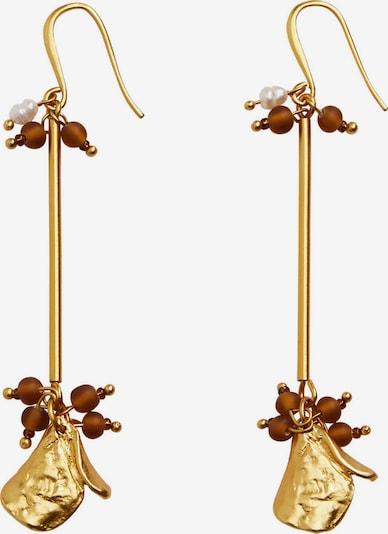 Cercei 'BINIBECA' MANGO pe auriu / roșu pastel / alb perlat, Vizualizare produs
