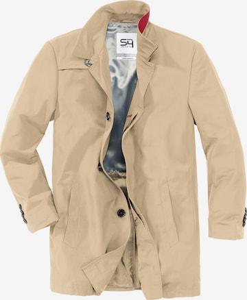S4 Jackets Between-Seasons Coat in Beige