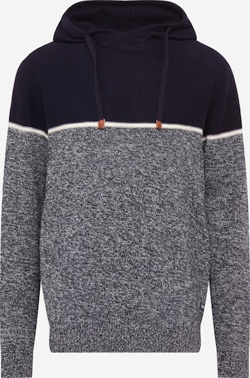 INDICODE JEANS Pullover 'Brager' in nachtblau / schwarz / weiß, Produktansicht