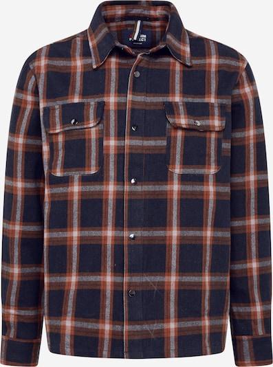 Dalykiniai marškiniai iš Denim Project , spalva - rusva / šviesiai pilka / juoda, Prekių apžvalga