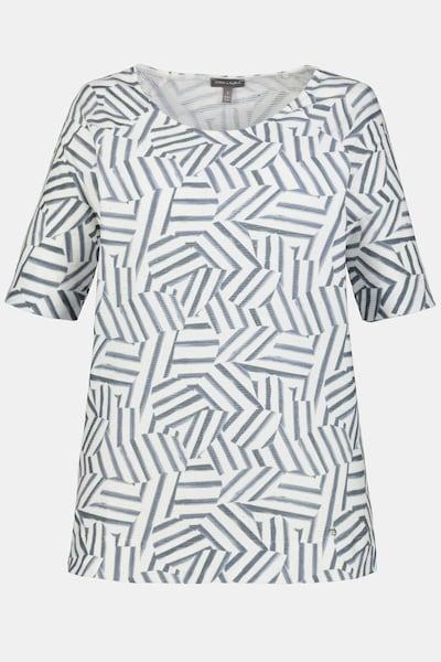 Gina Laura T-Shirt in grau / weiß, Produktansicht