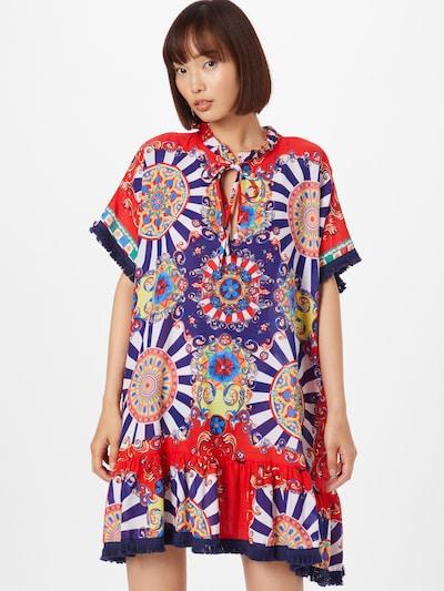Trendyol Kleid in blau / rot / weiß, Modelansicht