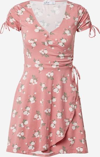 HOLLISTER Лятна рокла в зелено / розе / бяло, Преглед на продукта