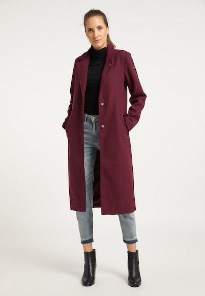 DreiMaster Vintage Mantel in himbeer, Modelansicht