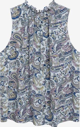 MANGO Bluse 'QUENTIN' in hellblau / dunkelblau / gelb / rosa, Produktansicht