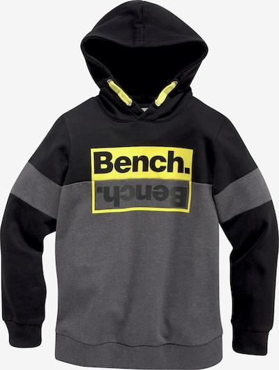BENCH Sweatshirt in gelb / grau / schwarz, Produktansicht