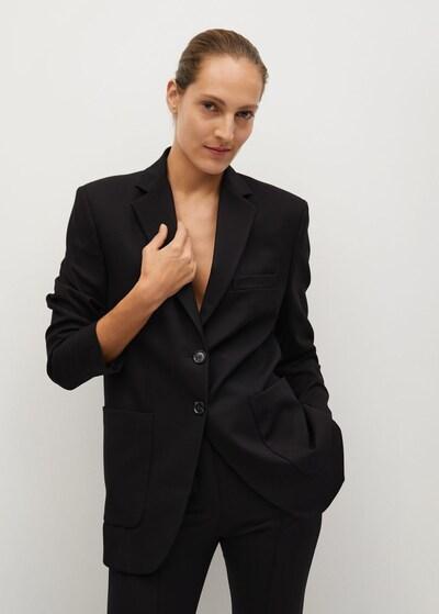 MANGO Blazer in schwarz, Modelansicht
