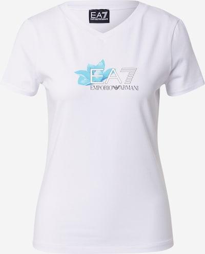 EA7 Emporio Armani T-Shirt in türkis / schwarz / offwhite, Produktansicht