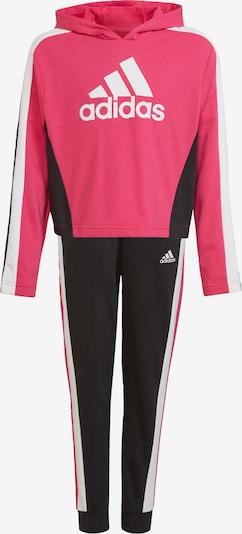 ADIDAS PERFORMANCE Trainingsanzug in pitaya / schwarz / weiß, Produktansicht