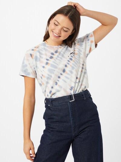 Obey Shirt in blau / orange / weiß, Modelansicht