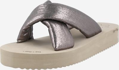 FLIP*FLOP Mule 'Chic' en gris argenté, Vue avec produit