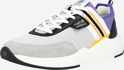 FRANKLIN & MARSHALL Sneaker 'ALPHA NIMBLE' in gelb / hellgrau / lila / schwarz, Produktansicht