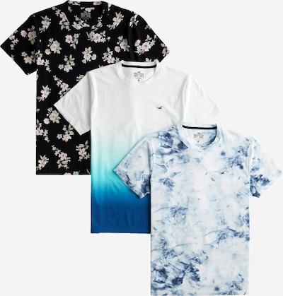 HOLLISTER Tričko - modrá / čierna / biela: Pohľad spredu