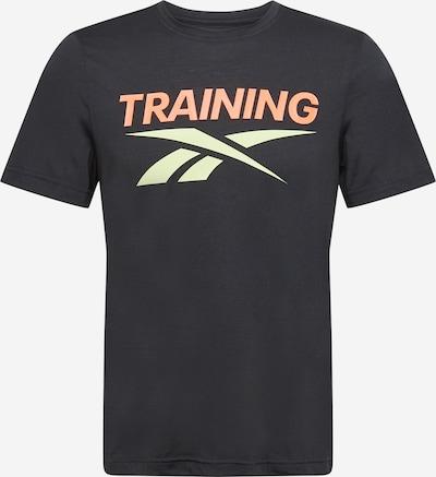 REEBOK Camiseta funcional en naranja / negro / blanco, Vista del producto