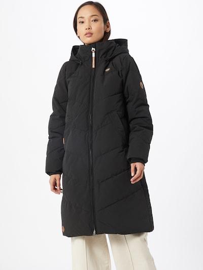 Ragwear Zimski plašč 'Rebelka' | rjava / črna barva, Prikaz modela