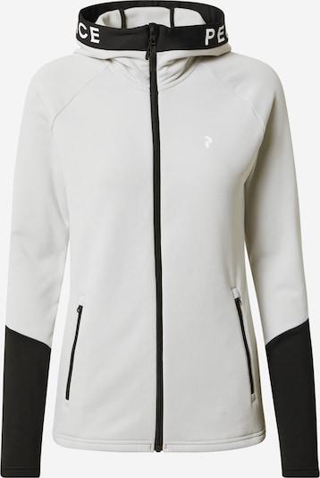PEAK PERFORMANCE Sportovní mikina s kapucí 'Rider' - světle šedá / černá / bílá, Produkt