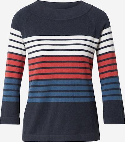 Pulover Thought pe bleumarin / albastru pastel / roșu / alb, Vizualizare produs
