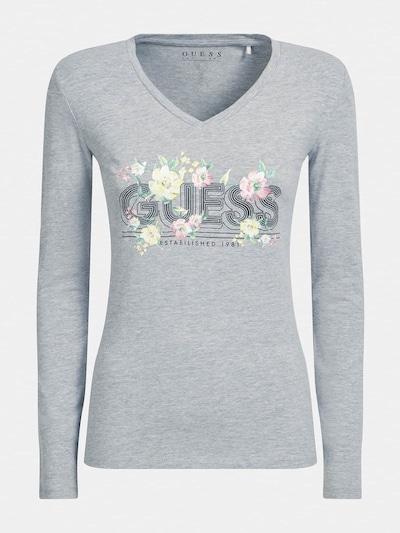 GUESS Shirt in pastellgelb / graumeliert / rosa / schwarz, Produktansicht