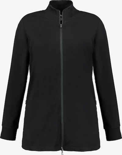 Ulla Popken Sweatjacke  '751619' in schwarz, Produktansicht