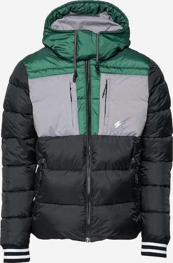 Superdry Prechodná bunda - sivá / zelená / čierna / biela, Produkt