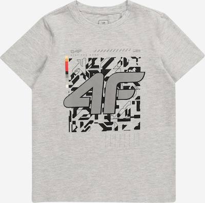 4F Sportshirt in grau / hellgrau / feuerrot / schwarz, Produktansicht