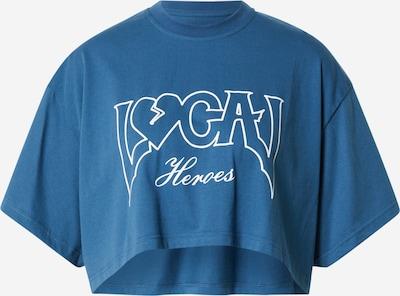 Tricou LOCAL HEROES pe albastru regal / alb, Vizualizare produs