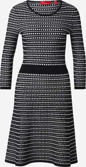 HUGO Úpletové šaty - černá / bílá, Produkt