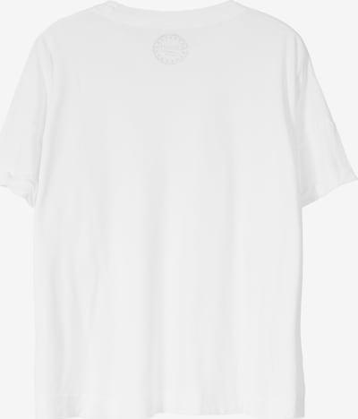 BLOOM T-Shirt mit offener Kante in weiß, Produktansicht