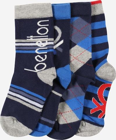Șosete UNITED COLORS OF BENETTON pe albastru / gri / roșu, Vizualizare produs