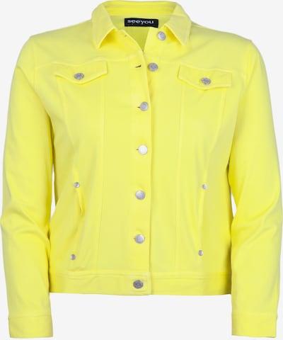 seeyou Jeansjacke aus Knit Denim in gelb, Produktansicht