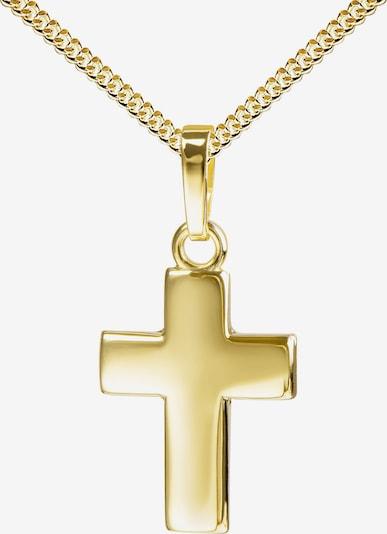 JEVELION Anhänger vergoldet 925 Silber Kreuz in gold, Produktansicht
