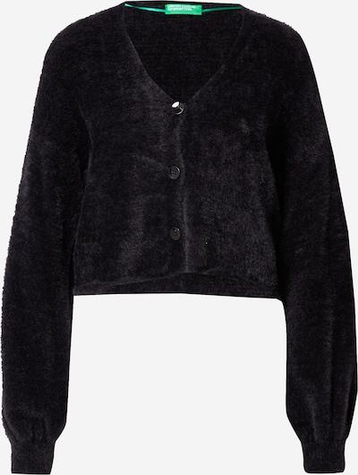 Geacă tricotată UNITED COLORS OF BENETTON pe negru, Vizualizare produs