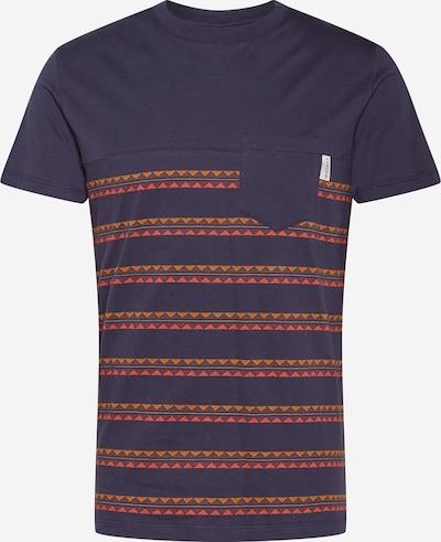 Iriedaily Tričko 'Monte Noe' - námornícka modrá / oranžová / svetločervená, Produkt