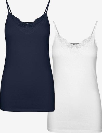 VERO MODA Top 'Inge' u mornarsko plava / bijela, Pregled proizvoda