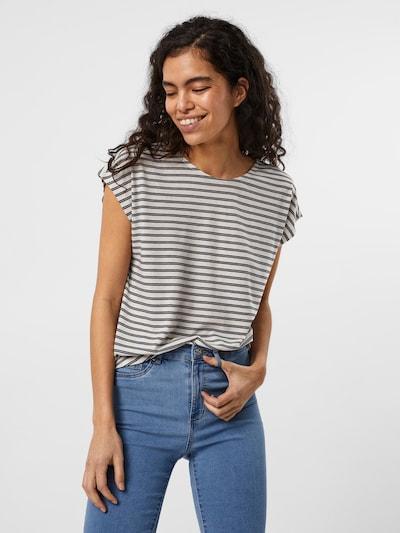 VERO MODA Shirt 'Alona' in dunkelblau / weiß: Frontalansicht