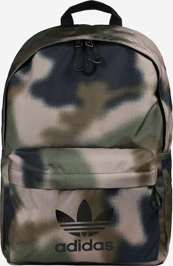 ADIDAS ORIGINALS Rucksack in kitt / hellbeige / graphit / oliv / schwarz, Produktansicht