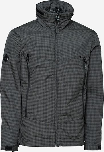 Superdry Jacke in hellgrau / schwarz, Produktansicht