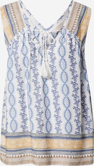 Cream Blouse 'Olina' in de kleur Beige / Lichtblauw / Wit, Productweergave