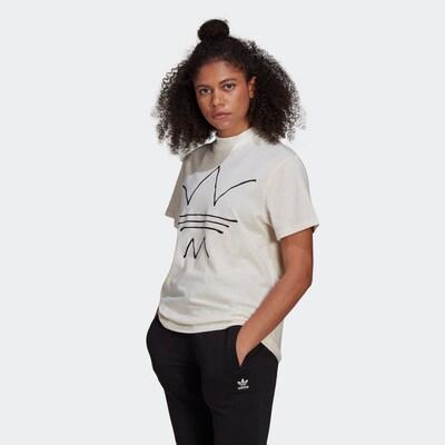 Tricou ADIDAS ORIGINALS pe negru / alb murdar: Privire frontală