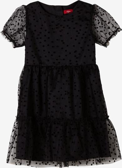 s.Oliver Mesh-Kleid in schwarz, Produktansicht