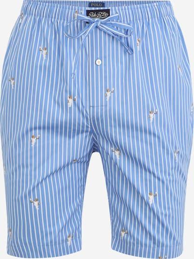 POLO RALPH LAUREN Pantalon de pyjama en bleu ciel / marron / blanc, Vue avec produit
